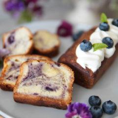 ブルーベリーパウンドケーキ(焼き菓子コース・オンライン)
